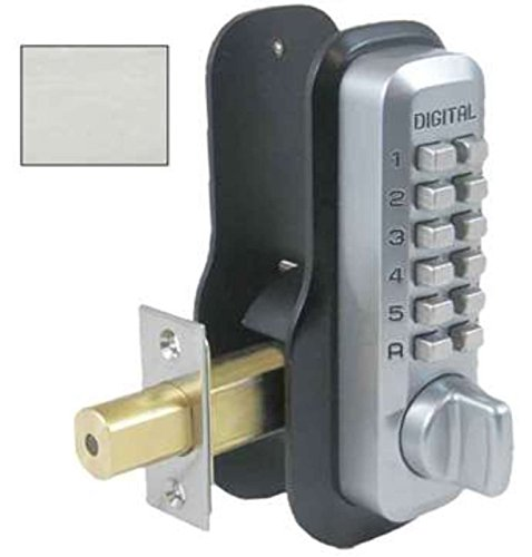 Lockey Digital M210 Mechanical Keyless Entry Bump Proof Deadbolt Door Lock Satin Nickel Finish