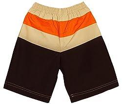 Oye Boys Knee Length Cut & Sew Poplin Shorts - Brown (4-5 Years)