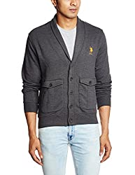 U.S.Polo.Assn. Men's Cotton Sweatshirt (8907259130088_USSS0493_XXL_Choco)