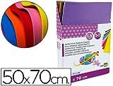 Goma eva liderpapel expositor de 50 planchasx10 colores surtidos 50x70 cm 1,5 mm espesor