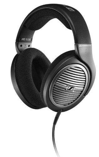 New Sennheiser Hd518 Over-The-Ear Audio Stereo Bass Portable Dj Headphones -East