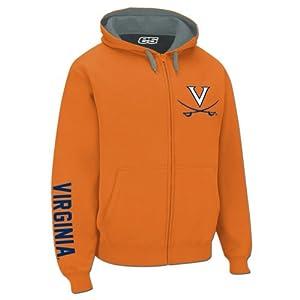 Virginia Cavaliers Hooded Full Zip Logo Sweatshirt by E5