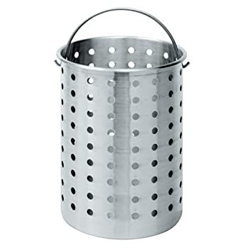 30-Quart Perforated Aluminum Accessory Basket. Fits 30-Quart Bayou Classic Turkey Fryers and larger. Use to boil seafood, crawfish, clams, corn, and other vegetables.
