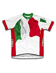 Italy Flag Short Sleeve Cycling Jersey for Women