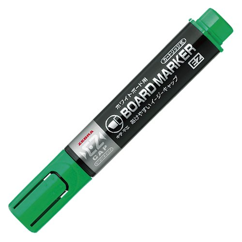 Zebra YYSM17 5.0mm Medium Chisel Tip Board Marker - Green