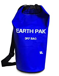 #1 Rated Heavy Duty 10L Waterproof Dry Bag With Shoulder Strap ★ Roll Top Dry Compression Sack Keeps Valuables Dry for Kayaking, Beach, Rafting, Boating, Hiking, Camping, Snowboarding ★ 1000D PVC Tarp ★ 100% Money Back Guarantee