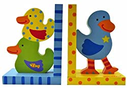 Kid's Tatutina Wood Adorably Designed Duckie Bookends