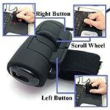 USB Finger Mouse Optical Laptop Notebook PC 1200DPI (Black)