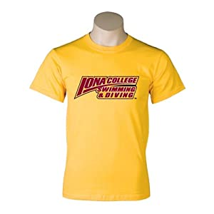 Iona College Gold T-Shirt-Large, Swimming & Diving