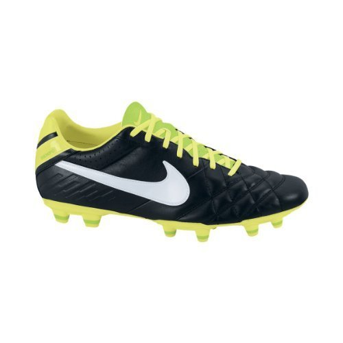 Nike Men'S Nike Tiempo Mystic Iv Fg Cleated Soccer Shoes 8.5 Men Us (Black/White//Electric Green)