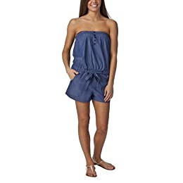 Product Image Mossimo Supply Co. Juniors Strapless Chambray Romper - Blue