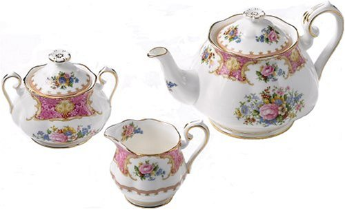 Royal Albert Lady Carlyle 3-Piece Tea Set Best Deals
