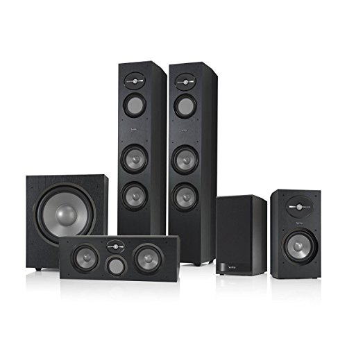 Infinity Reference 5.1 Home Theater Speaker Package (Black) (Infinity Subwoofer Package compare prices)