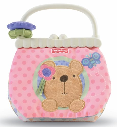 Fisher Price Little Buttons Soft Activity Purse front-108932
