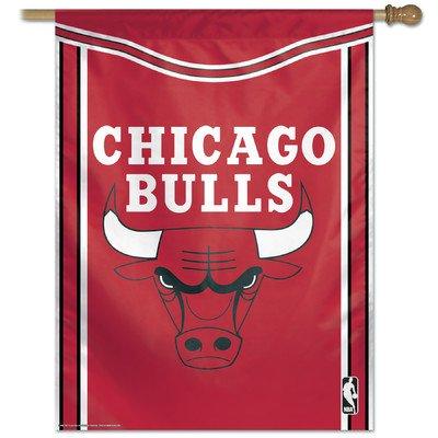"NBA Chicago Bulls 57737514 Vertical Flag, 27"" x 37"", Black"