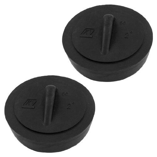 sourcingmapr-rubber-disposal-stopper-water-sink-plug-2-inch-diameter-2-pcs-black