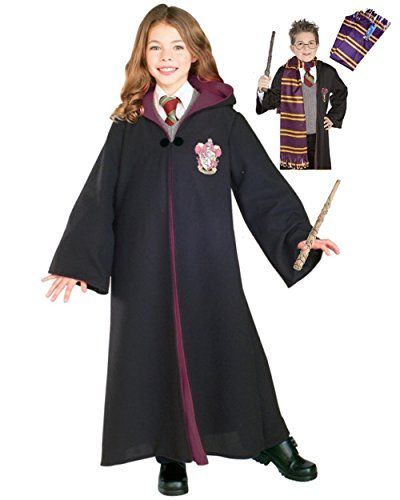 Kids Hermione Granger Gryffindor Robe And Wand Bundle