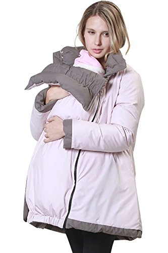 Sweet Mommy Reversible Down Maternity and Mother Coat with baby pouch KHPK L(12-14)