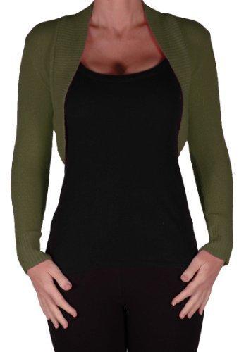 EyeCatchKnitwear - Lara Long Sleeve Knitted Bolero Shrug One Size
