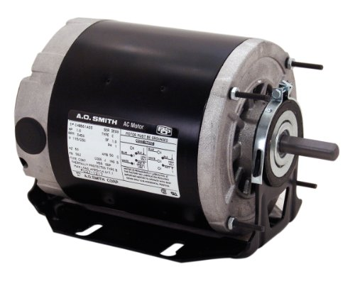 A.O. Smith GF2034 1/3 hp, 1725 RPM, 115 volts, 48/56 Frame, ODP, Sleeve Bearing Belt Drive Blower Motor