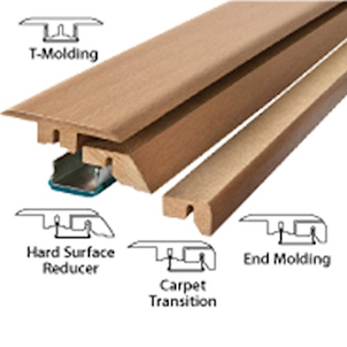 Traditional living 4 in 1 transition molding 39 3 8 oak for Lock n seal laminate flooring