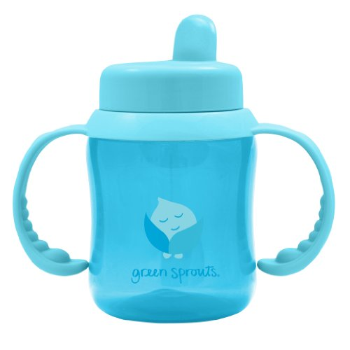 Green Sprouts Flip Top Sippy Cup, Aqua, 6 Ounce