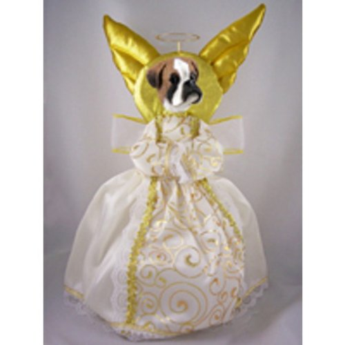 Boxer w/Uncropped Ears Doogie Collection Angel Tree Topper