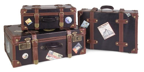 Labeled Suitcases - Set of 3 0