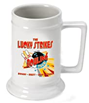 Personalized 16 oz. Bowling Team Beer Stein (Set of 48)