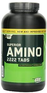 Optimum Nutrition Superior Amino 2222  Amino Acid Tablets - Tub of 320
