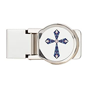 Truly Teague Round Money Clip Stained Glass Cross