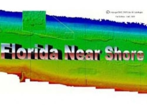 Florida Near Shore Charts Palm Beach Broward Miami-Dade County Side Scan Sonar Scuba Diving Fishing Depth Reef Shipwreck Wreck Inlet Pier Locations Map High Resolution Image Chart (Location Chart compare prices)