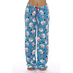 Petite to Plus Size Snowman Pajama Pants