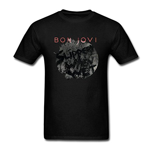 REIINO Men's Slippery When Wet Bon Jovi T-shirt