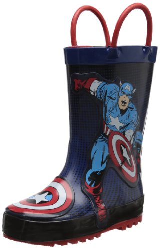 Western Chief Captain America Rain Boot (Toddler/Little Kid/Big Kid),Blue,11 M Us Little Kid front-880657