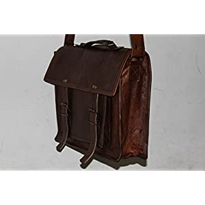 HandMadeCart  Genuine Men's Leather Messenger Laptop Briefcase Satchel Mens Bag