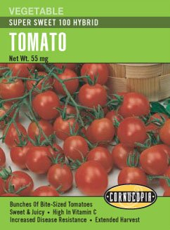 Tomato Super Sweet 100 Cherry Seeds (Sweet Tomato Seeds compare prices)