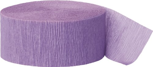 Crepe Paper Streamers, 81 Feet, Lavender (Streamer Baby Shower compare prices)