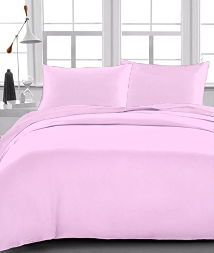 Full Sheet Set Egyptian Cotton 600 Thread-Count (+15 Inch) Deep Pocket, Pink Solid (Hotel Collection Full Sheet Set compare prices)