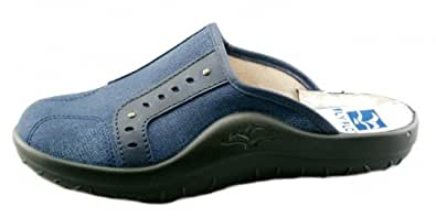 880 090 Mens Fly Flot clog slipper slipper blue, Größen:EUR 46