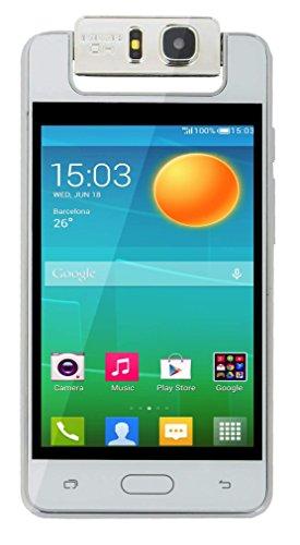 "Surya Microkey E9 4"" Touch Screen 1.3 GHZ Quad Core 180 degree rotating camera mart Phone-White Colour"