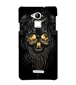printtech Skull Design Back Case Cover for Coolpad Note 3 Lite Dual SIM with dual-SIM card slots