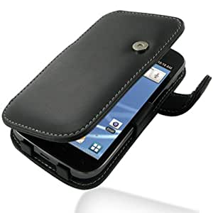 PDair Leather Case for Samsung Galaxy S II SGH-T989 - Book Type (Black)