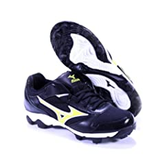 Buy FINCH FRANCHISE 4 BY MIZUNO Ladies SOFTBALL MOLDED CLEATS BLACK OPTIC YELLOW US... by FINCH FRANCHISE 4