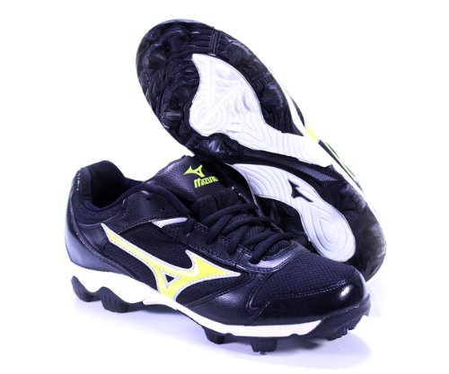 FINCH FRANCHISE 4 BY MIZUNO WOMEN'S SOFTBALL MOLDED CLEATS BLACK OPTIC YELLOW US WOMEN'S 8.5M