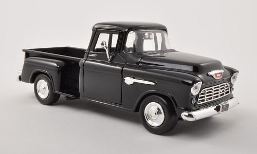 Chevrolet 5100 Stepside pick UP, black , 1955, Model Car, Ready-made, Motormax 1:24 (Die Cast Promotions Trucks compare prices)
