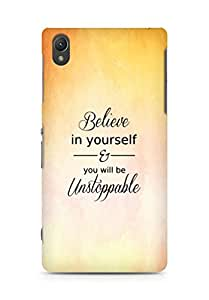 AMEZ believe in yourself and you will be unstoppable Back Cover For Sony Xperia Z2