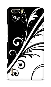 Amez designer printed 3d premium high quality back case cover for Huawei Honor 6 Plus (Pattern Black And White)