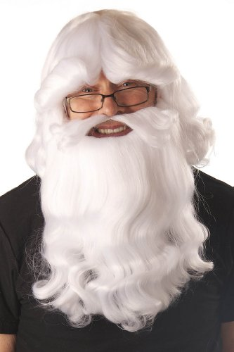 My Costume Wigs Men's Santa Wig and Beard Set (White) One Size fits all