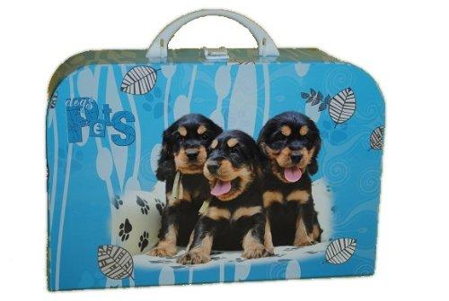 Kinderkoffer Groß Hund 34 cm Tier Puppenkoffer